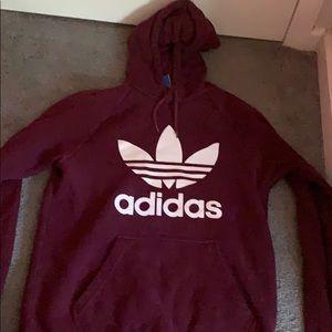 Adidas throwback logo hoodie